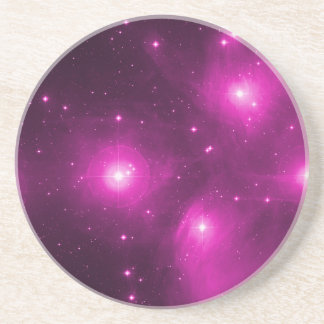 Pleiades in Pink Coaster