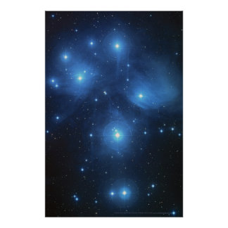 Pleiades Star Cluster 18x12 (16x11) Poster