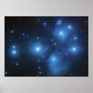 Pleiades Star Cluster Print