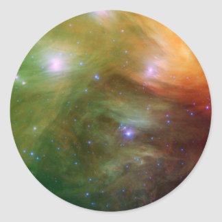 Pleiades stars in infrared SSC2007 07A Classic Round Sticker