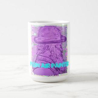 plein air painter classic white coffee mug