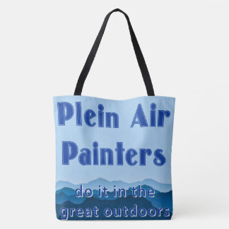 Plein air painters do it in the great outdoors tote bag