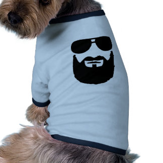 Pleines lunettes de soleil de barbe manteaux pour chien