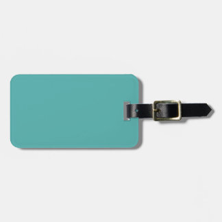 Plentifully Wealthy Turquoise Blue Color Luggage Tag