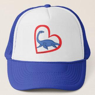 Plesiosaur Heart Trucker Hat