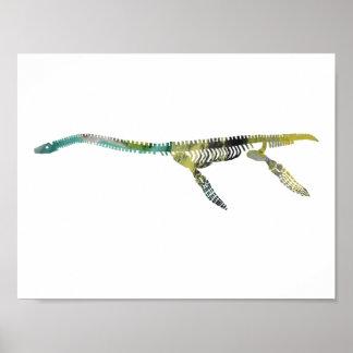 plesiosaur skeleton poster