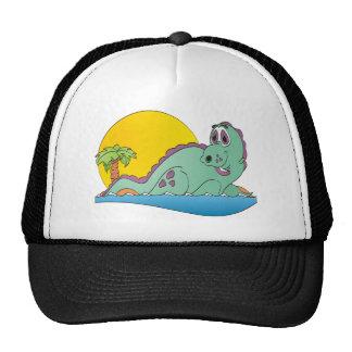 Plesiosaurus Cartoon Trucker Hats