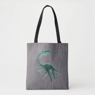 Plesiosaurus Dinosaur All-Over-Print Tote Bag