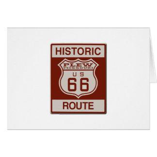 Plew Route 66 Card