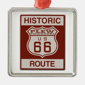 Plew Route 66 Metal Ornament