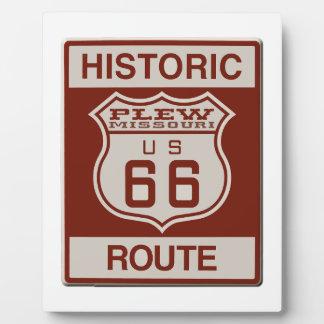Plew Route 66 Plaque