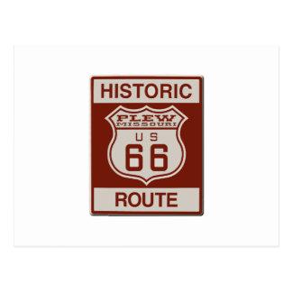Plew Route 66 Postcard