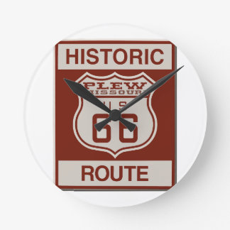 Plew Route 66 Round Clock