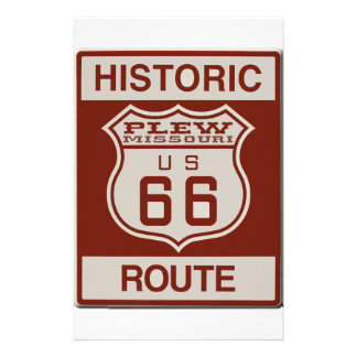 Plew Route 66 Stationery
