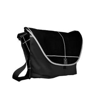 Plexus (Black) Messenger Bag