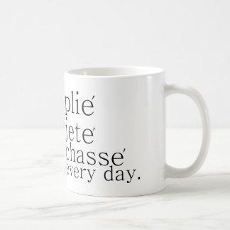 plie jete chasse everyday dancer mug