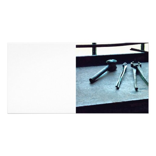 Pliers and Mallet Photo Card Template