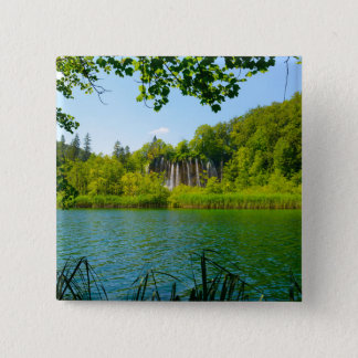 Plitvice Lakes National Park in Croatia 2 Inch Square Button