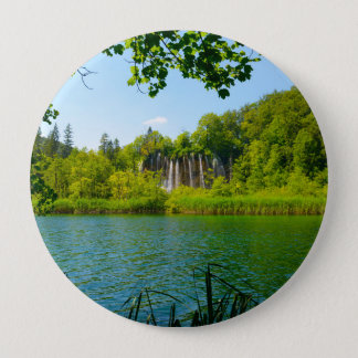 Plitvice Lakes National Park in Croatia 4 Inch Round Button