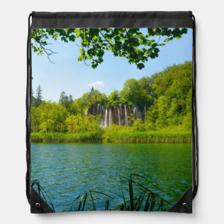 Plitvice Lakes National Park in Croatia Drawstring Bag