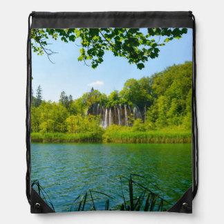 Plitvice Lakes National Park in Croatia Drawstring Bag