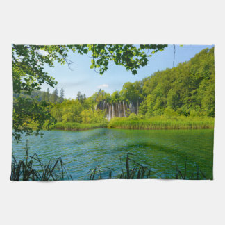 Plitvice Lakes National Park in Croatia Kitchen Towel