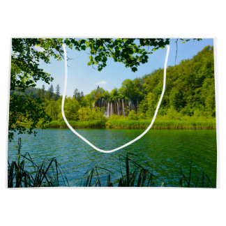 Plitvice Lakes National Park in Croatia Large Gift Bag