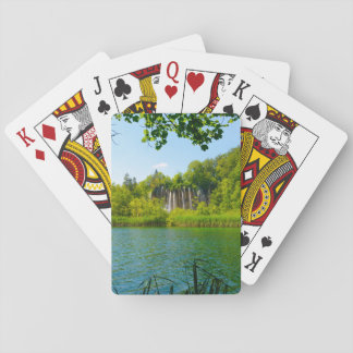 Plitvice Lakes National Park in Croatia Playing Cards