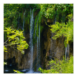 Plitvice Lakes National Park in Croatia Poster