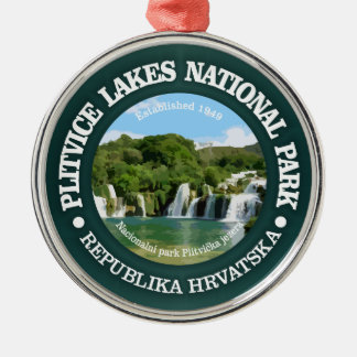 Plitvice Lakes NP Metal Ornament
