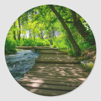 Plitvice National Park in Croatia Classic Round Sticker