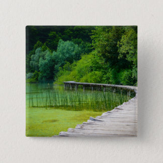 Plitvice National Park in Croatia Hiking Trails 2 Inch Square Button