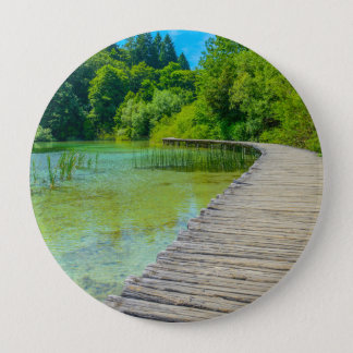 Plitvice National Park in Croatia Hiking Trails 4 Inch Round Button