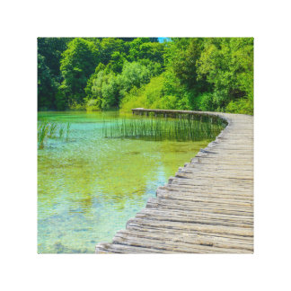 Plitvice National Park in Croatia Hiking Trails Canvas Print