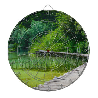 Plitvice National Park in Croatia Hiking Trails Dartboard
