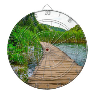 Plitvice National Park in Croatia Hiking Trails Dartboard With Darts