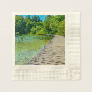 Plitvice National Park in Croatia Hiking Trails Disposable Napkins