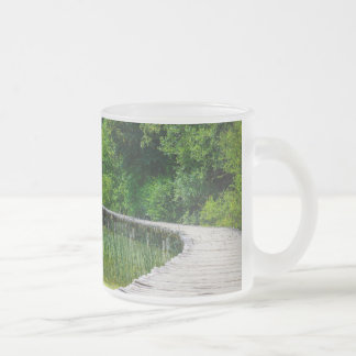 Plitvice National Park in Croatia Hiking Trails Frosted Glass Coffee Mug