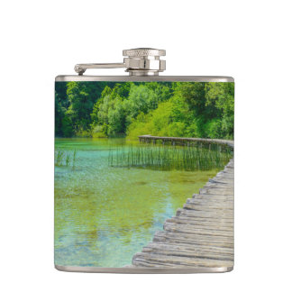 Plitvice National Park in Croatia Hiking Trails Hip Flask
