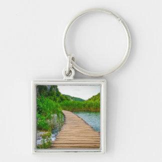 Plitvice National Park in Croatia Hiking Trails Keychain