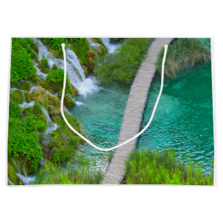Plitvice National Park in Croatia Hiking Trails Large Gift Bag