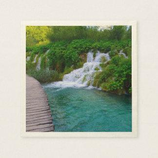Plitvice National Park in Croatia Hiking Trails Paper Napkin