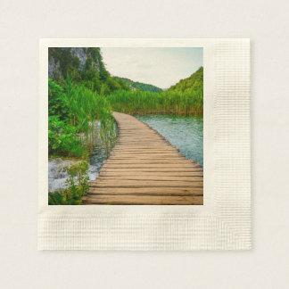 Plitvice National Park in Croatia Hiking Trails Paper Napkins