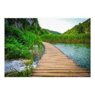 Plitvice National Park in Croatia Hiking Trails Photo Print
