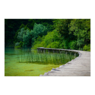 Plitvice National Park in Croatia Hiking Trails Poster