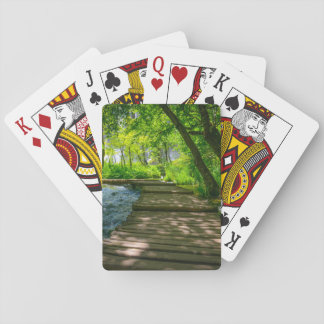 Plitvice National Park in Croatia Poker Deck