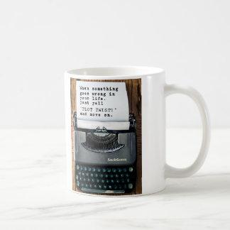 """""""PLOT TWIST"""" Mug - Full Typewriter"""