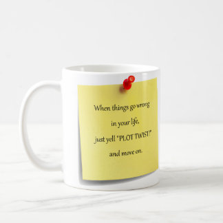Plot Twist Sticky Note Coffee Mug