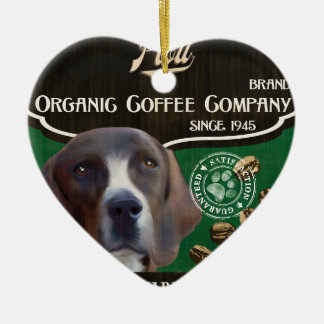 Plott Brand – Organic Coffee Company Ceramic Heart Ornament