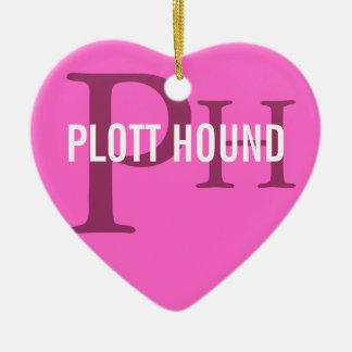 Plott Hound Breed Monogram Ceramic Heart Ornament
